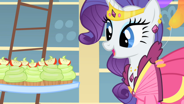 File:Rarity looks at the cupcakes S1E22.png