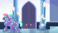 Royal guards patrolling the palace S6E16