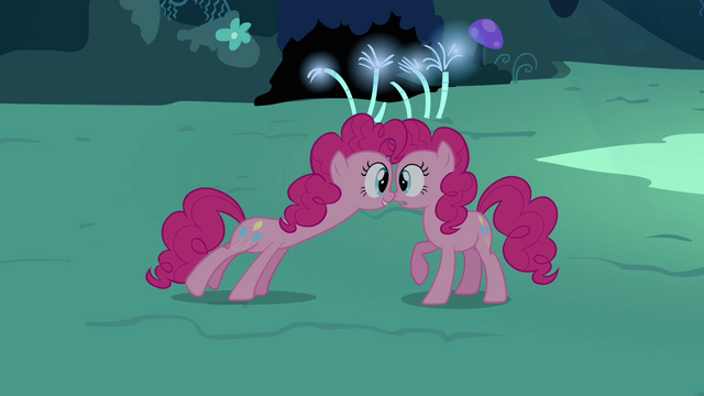 File:Pinkie Pie double looking towards Pinkie Pie S3E03.png