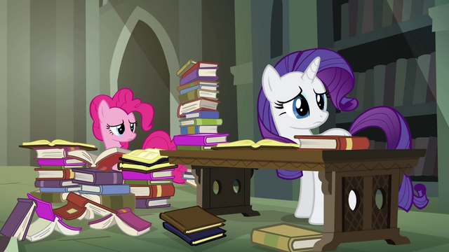 File:Pinkie and Rarity haven't found anything S4E25.png