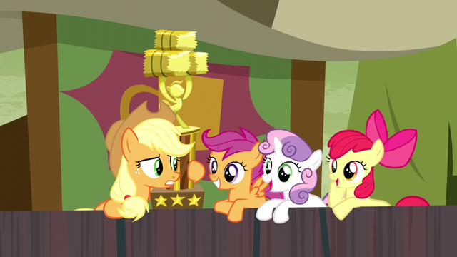"File:Applejack ""since when are y'all so into rodeo clowns?"" S5E6.png"