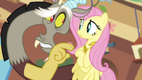 Discord calls Fluttershy's friends nasty S03E10
