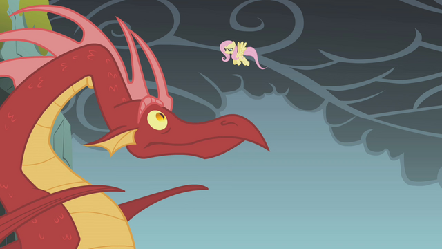 File:Fluttershy surprises the dragon S1E07.png