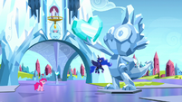 Pinkie and Luna in dream Crystal Empire S5E13