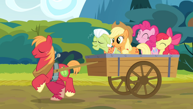 File:The Apples and Pinkie singing the reprise S4E09.png