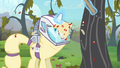Apple falls onto Rarity's hazmat suit S4E07.png