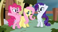 FANMADE Rarity & Pinkie Pie around Fluttershy S2E19