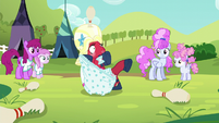 Orchard Blossom tangled in her bloomers S5E17