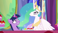 Princess Celestia getting impatient S6E6