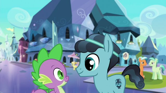 File:Spike and Crystal Hoof tour the Empire S6E16.png
