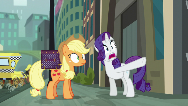 File:Rarity in shock and pointing her hoof S5E16.png