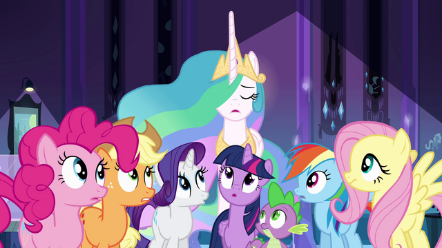 "File:Princess Celestia ""the importance of your task"" EG.png"