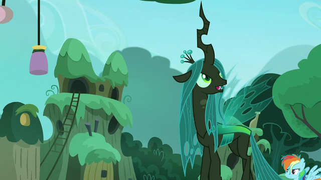 File:Chrysalis looks around the village S5E26.png