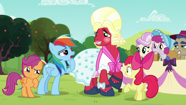 File:Rainbow Dash being suspicious of Orchard Blossom's true identity S5E17.png