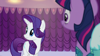 Rarity hears Sassy Saddles S5E14