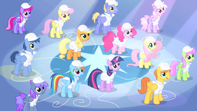 File:Rarity shining down on ponies S1E16.png