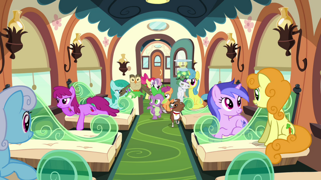File:Spike, CMC, and the pets board the train S03E11.png