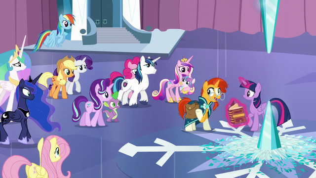 "File:Sunburst ""with the light and love of everypony gathered"" S6E2.png"
