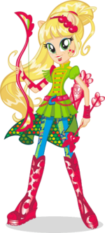 Applejack Friendship Games bio art