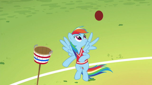 File:Rainbow Dash juggles a ball with her wing S6E18.png