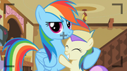 Rainbow Dash with Princess Erroria S2E8