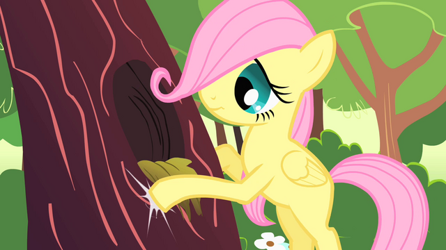 File:Fluttershy filly knocking on tree trunk S01E23.png