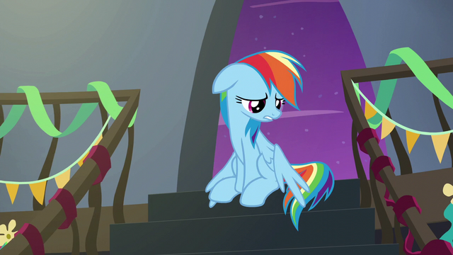 File:Rainbow Dash lamenting her nickname S6E7.png