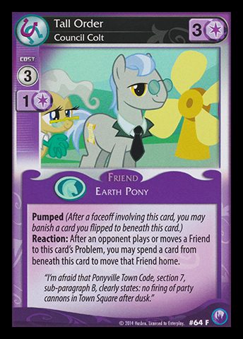 File:Tall Order, Council Colt card MLP CCG.jpg