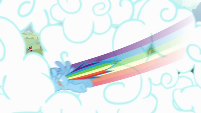 File:Rainbow Dash punching through clouds S4 Opening.png