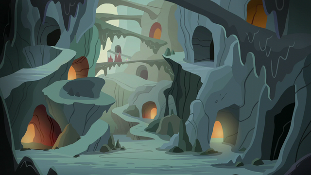 File:Spike and ponies continue through the cavern S6E5.png