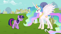 "Twilight and Celestia ""with all due respect"" S03E10"