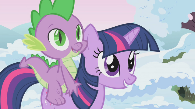 File:Twilight and Spike nearing animal team area S1E11.png
