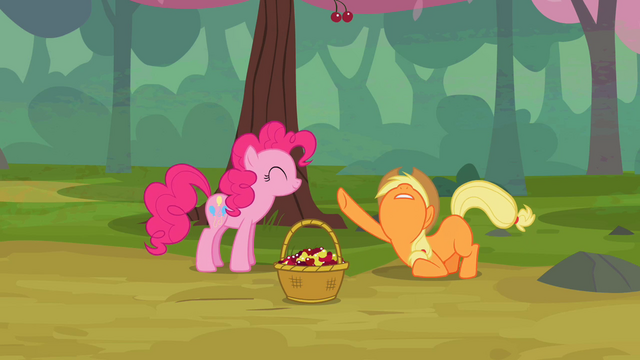 File:Applejack begging Pinkie Pie for mercy S2E14.png