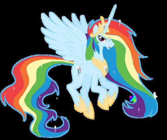 File:FANMADE Princess Rainbow Dash.png