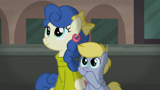 File:Mother and foal watching play together S5E16.png
