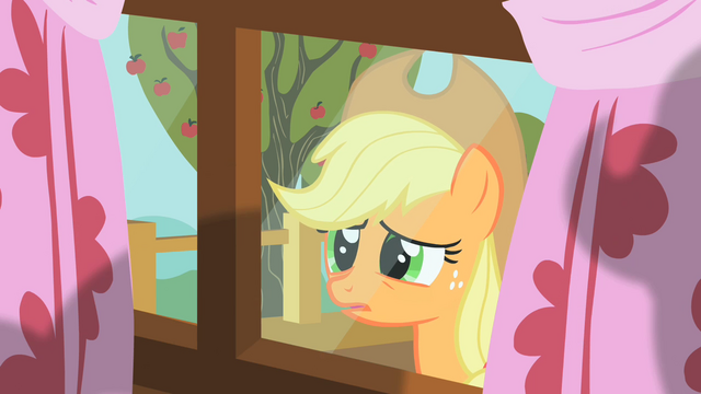 File:Applejack peering through window 5 S01E18.png