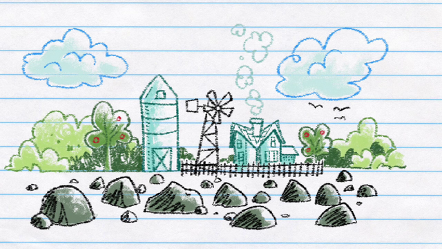 File:Drawing of the Pie family's rock farm S4E18.png