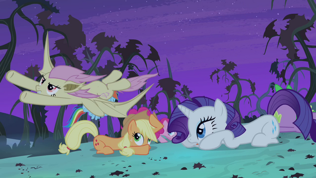 File:Main cast ducking under Flutterbat S4E07.png