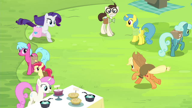 File:AJ and Rarity gallop toward each other S4E22.png