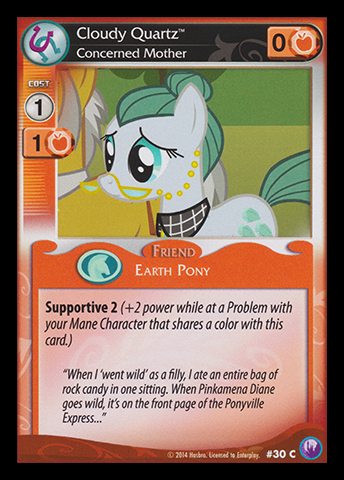 File:Cloudy Quartz, Concerned Mother card MLP CCG.jpg