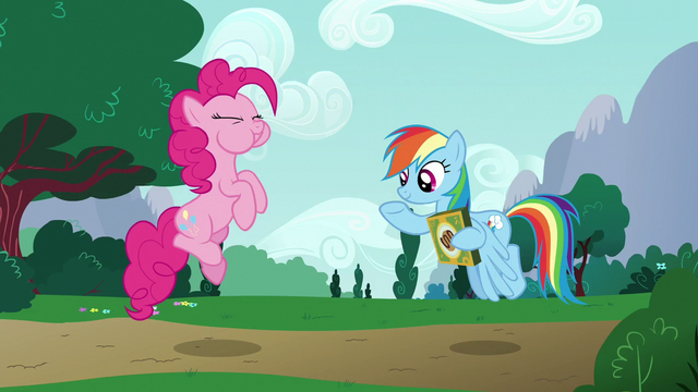 File:Pinkie catches the cookie in her mouth S6E15.png