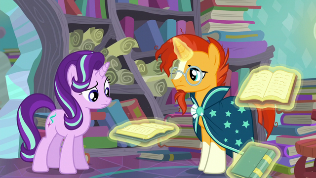 File:Starlight looks at the book; Sunburst stops stating the books' titles S6E2.png