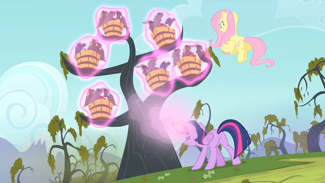 File:Twilight casting a spell on the bats S4E07.png