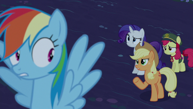 """File:Applejack """"'any minute now' what?"""" S6E15.png"""