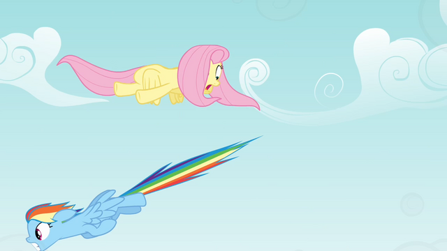 File:Fluttershy dodging Rainbow Dash S4E04.png