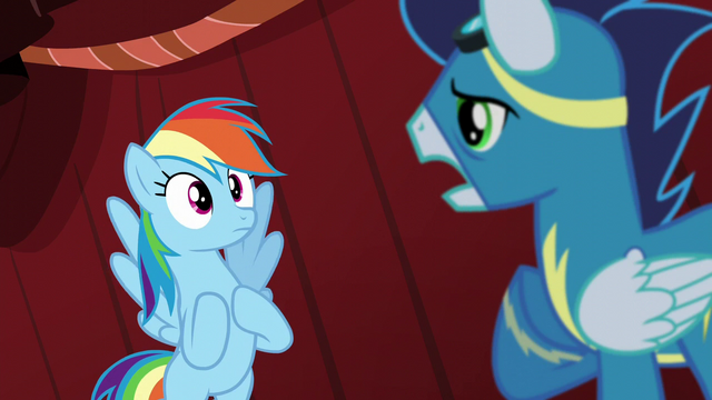 "File:Soarin ""then you can still fly with us"" S5E15.png"