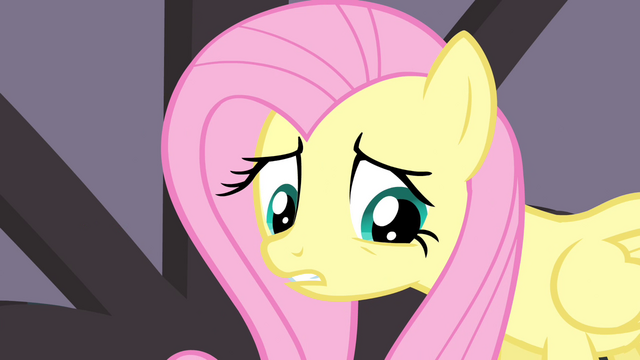 "File:Fluttershy sad about her ""last performance"" S4E14.png"