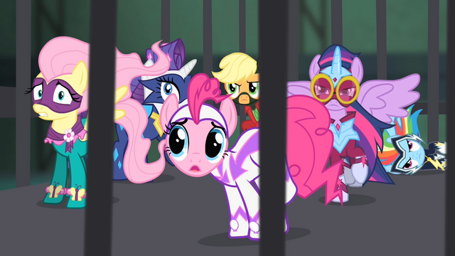 File:The Power Ponies in the cage S4E06.png