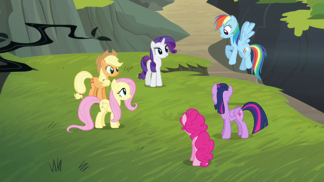 File:Rainbow Dash joins her friends S4E04.png