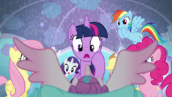 Mane six shocked to see Flurry Heart's wings S06E01.png